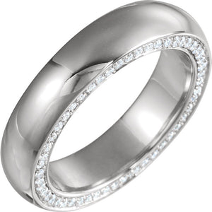 14K Gold 0.8 CTW Diamond Round  Band