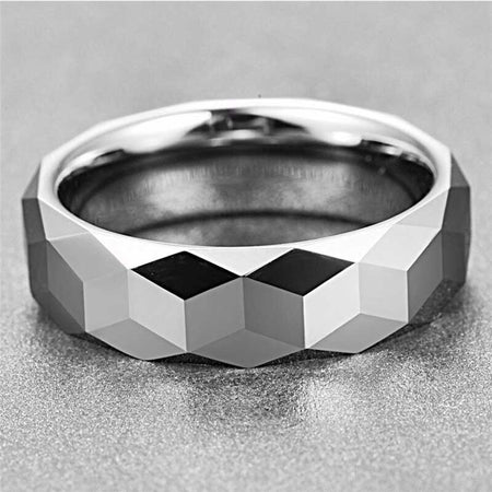 Silver Color Polished Tungsten Carbide Ring