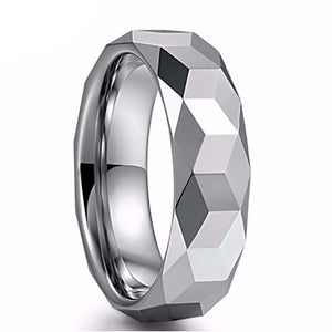 Rose Gold Color Hammered Tungsten Carbide Ring