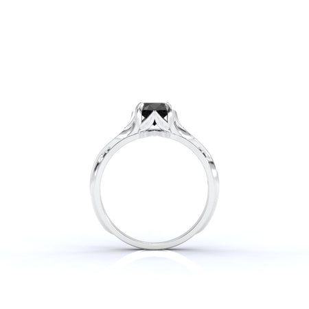 0.1 CTW custom moissanite engagement rings-8 Natural Diamond I2-Clarity, VG-Cut
