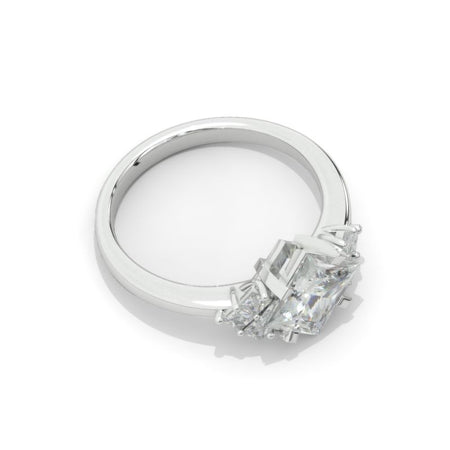 2 Carat Princess Cut Moissanite Diamond  White Gold Giliarto Halo Engagement Ring