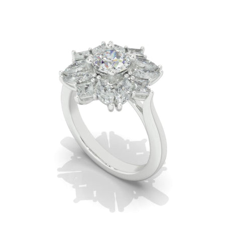 1 Carat Carat Moissanite Giliarto  Gold Engagement Ring