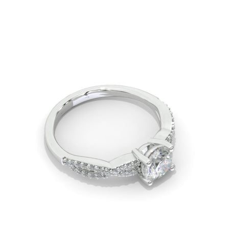 1 Carat Moissanite Giliarto Twisted Shank Gold Engagement Ring