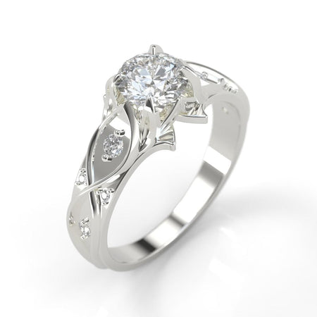 1.0 Carat Moissanite Diamond Engagement Ring - Giliarto