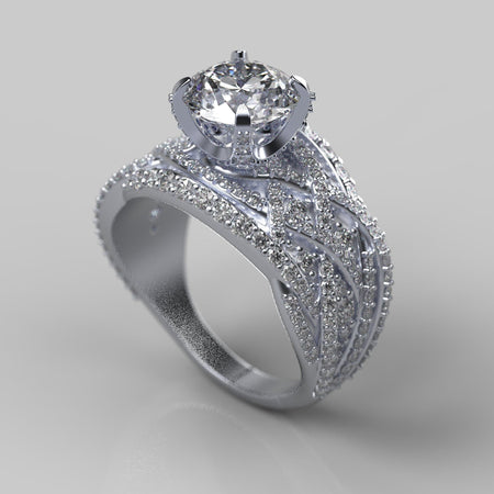 Infinitely Yours  Moissanite Diamond Engagement Ring - Giliarto