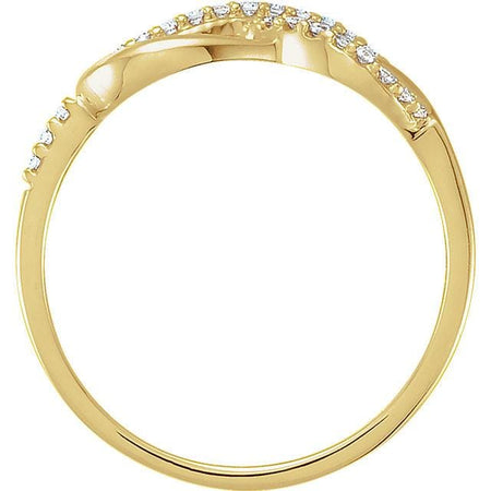 Infinity-Inspired Knot Ring 14K Yellow Gold 1/10 CTW Diamond - Giliarto