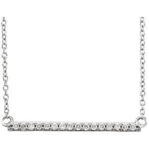 "1/6 CTW Diamond Bar 18"" Necklace - Giliarto"