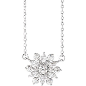 "1/2 CTW Diamond Vintage-Inspired 16"" Necklace - Giliarto"