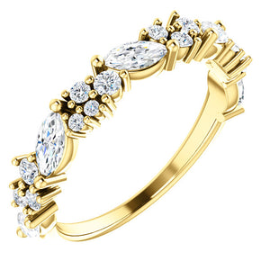 14K Gold 7/8 CTW Diamond Anniversary Band