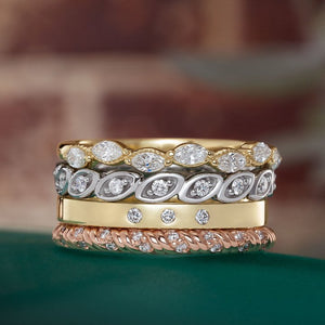 14K Gold 1/6 CTW Diamond Anniversary Band