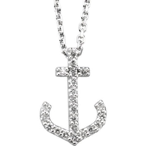Diamond Anchor Pendant - Giliarto