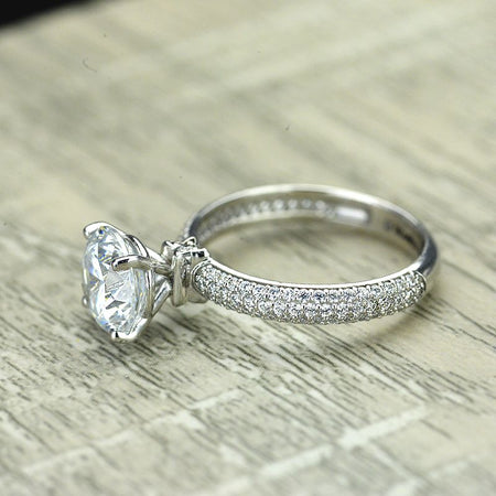 forever one moissanite engagement rings