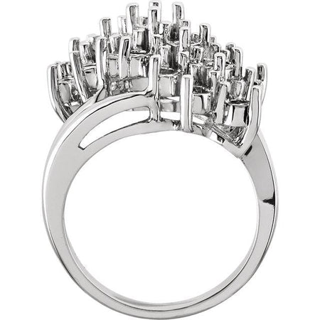 Diamond Waterfall Cluster Cocktail Ring - Giliarto