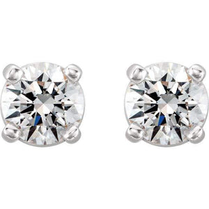 0.3 CTW  Diamond Stud Earrings - Giliarto, solitaire earrings