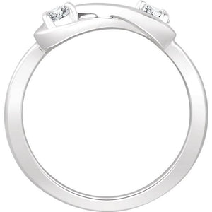 Infinity-Inspired Ring 14K Gold  White 1/4 CTW Diamond - Giliarto