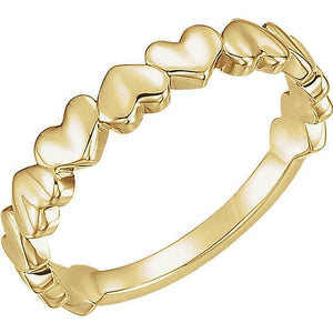 Heart Ring 14K Gold Yellow - Giliarto