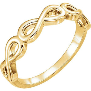 14K Gold Stackable Infinity-Inspired Ring - Giliarto