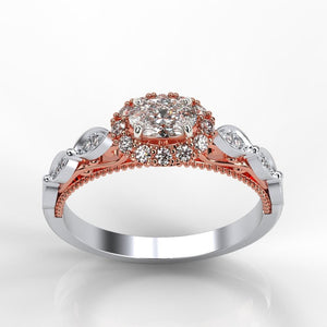 Adara Oval Moissanite Diamond Halo Engagement Ring - Giliarto
