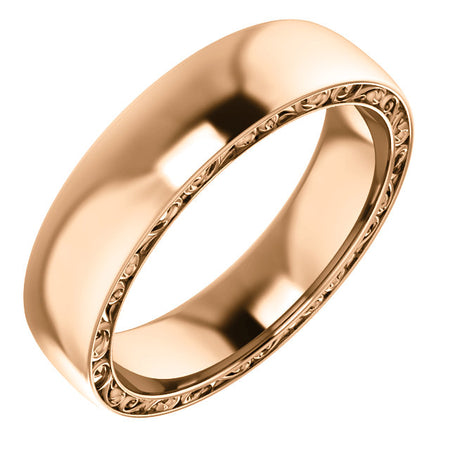 14K Gold  Relief Pattern Band