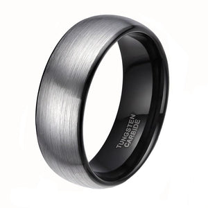Brushed Men Tungsten Carbide Ring