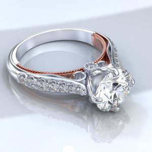 Andromeda Forever One Moissanite Diamond  Ring