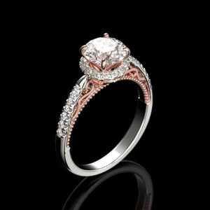 Forever One Moissanite Adara Gold Ring