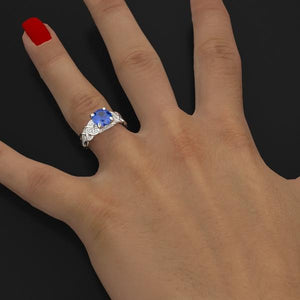 2 Carat Sapphire Engagement Ring - Giliarto