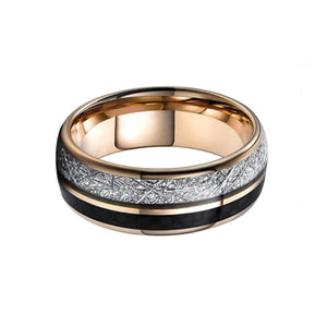 Meteorite with Carbon Fiber Tungsten Carbide Rings
