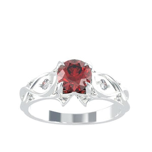 1.0 Carat Ruby Engagement Ring - Giliarto