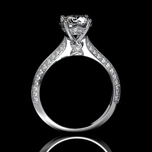 Mercedes 2.5 Carat Forever One Moissanite Engagement Ring