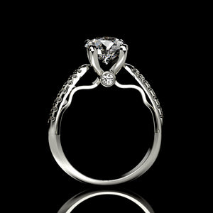 Atria 2.2 Carat Forever One Moissanite Engagement Ring