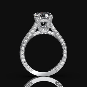 3.2 Carat Forever One Moissanite Diamond  Engagement Ring