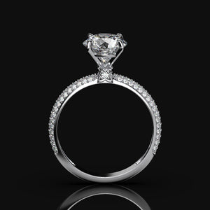 ''Carmen'' 2 Carat Forever One Moissanite 14K Gold Diamond Engagement Ring