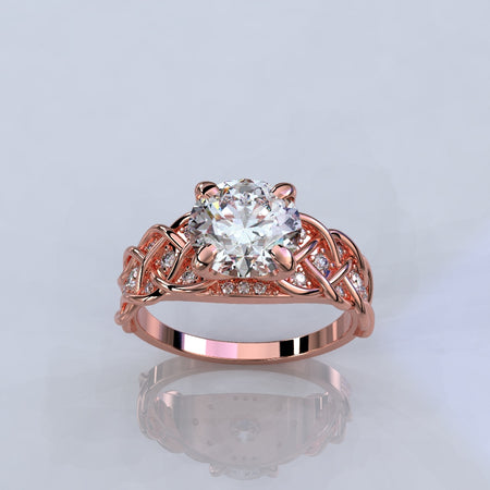 2.0 Carat Moissanite Diamond Engagement Ring