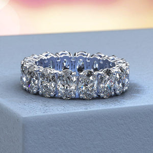 6.5 CT.T.W.  Moissanite Oval  Eternity Band - Giliarto