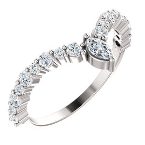 "14K White Gold 1/2 CTW Diamond ""V"" Ring"