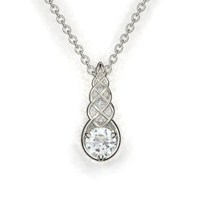 2 Carat Forever One Moissanite Diamond Pendants