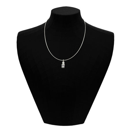 1.0 Carat forever one moissanite necklace I 10K White Gold- 14 Accent Stones