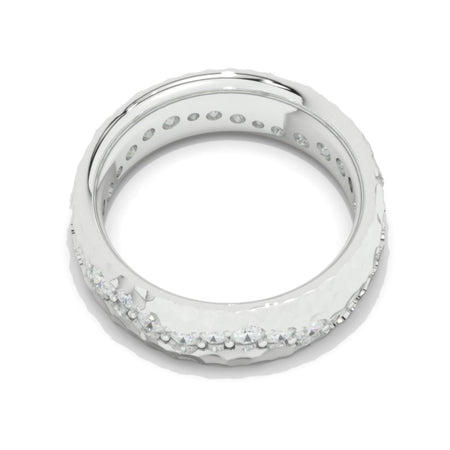 2.1 CTW  Diamond Men's  14K White Gold  Ring.