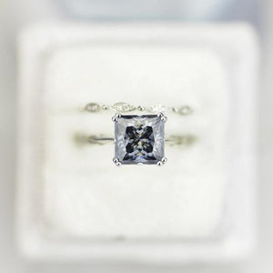 gray grey moissanite ring