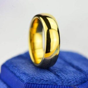 Yellow Gold Tungsten Wedding Band. Yellow Gold Tungsten. Men & Women Tungsten Ring. Tungsten Carbide 8mm Wide. Free Engravings