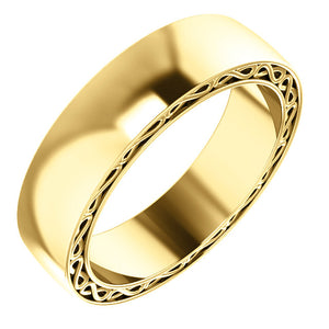 14K Gold Infinity Pattern Band