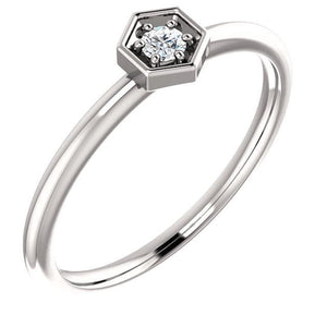 14K Gold 2.5mm Round Forever One ™ Moissanite Ring - Giliarto