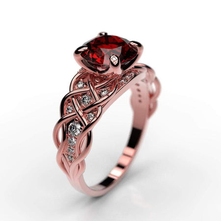 Lattice Ruby Giliarto Gold Engagement Ring