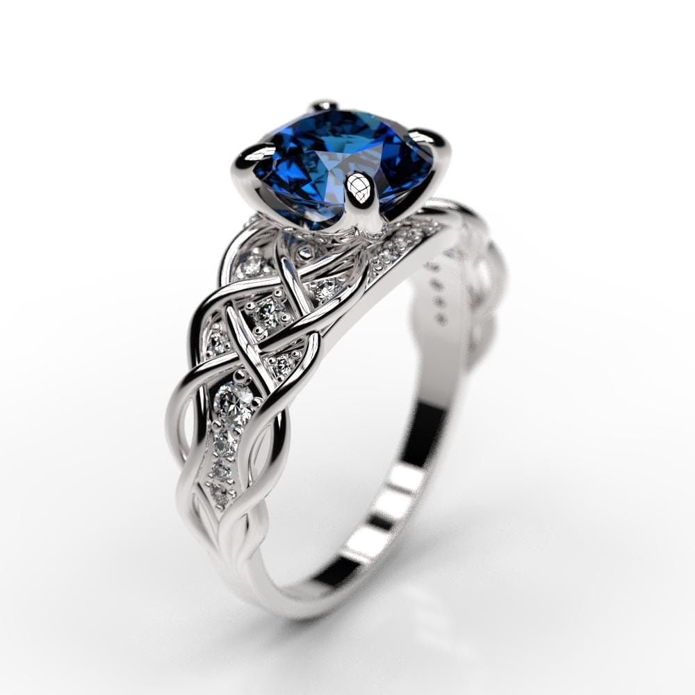 gold ring more rose sapphire products natural blue design la diamond rings jewellery halo by size light in engagement