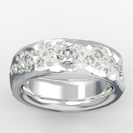 mens solitaire diamond rings-natural Diamond 26 14k