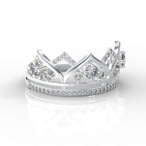 ''Your Majesty'' Diamond Tiara 14k Gold Ring - Giliarto