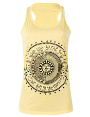 Geometric Sun and Moon Printed Tank Top