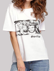 Fashion Lady Casual Loose Print T-Shirt