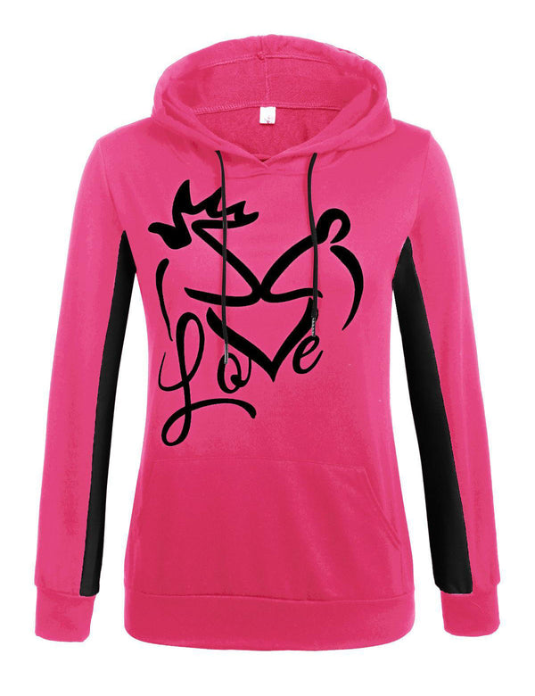 Rose Red Love Kiss Hoodie